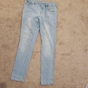 Used Justice kids light blue jeans size 16 1/2